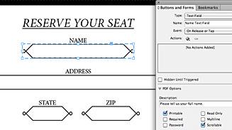 Формы PDF в InDesign