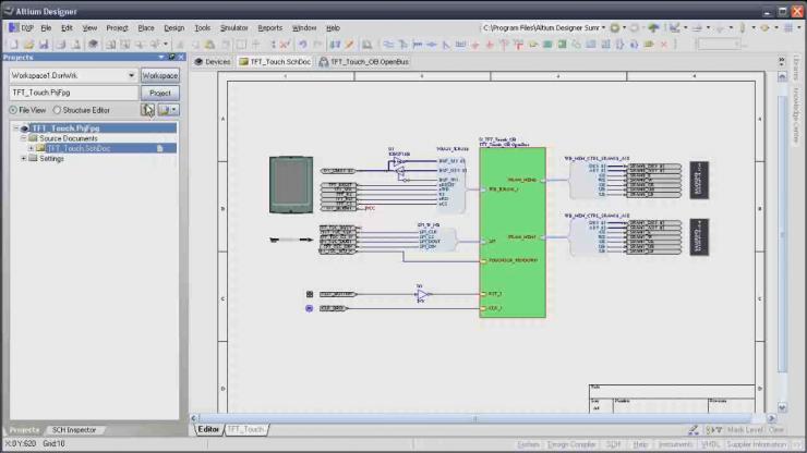 Altium Designer - Пример принципиальной схемы проекта ПЛИС.